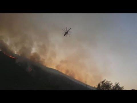 Σε πλήρη εξέλιξη πυρκαγιά στο Καταστάρι Ζακύνθου