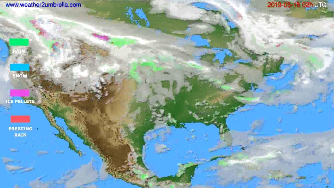 Precipitation forecast USA & Canada // modelrun: 00h UTC 2019-05-16