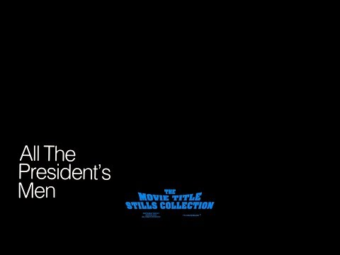 All The President's Men (1976) Title Sequence