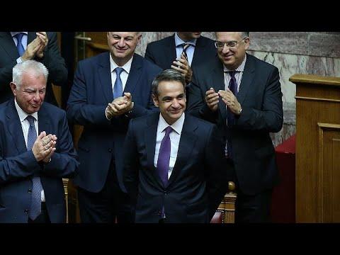 Griechenland: Neuer Premier Mitsotakis erhält Vertrau ...