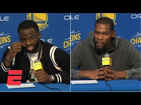 Video: Draymond Green, Klay Thompson, Kevin Durant show frustration after Warriors OT loss | NBA on ESPN