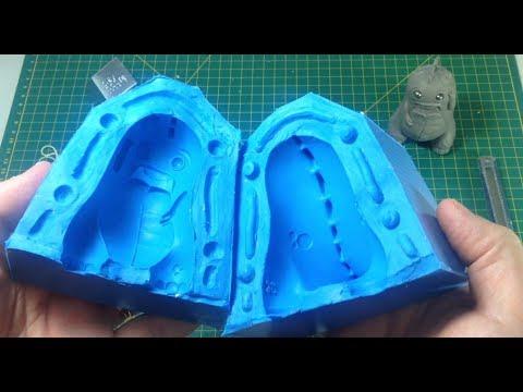 Como fazer molde de silicone com duas metades (bipartido)