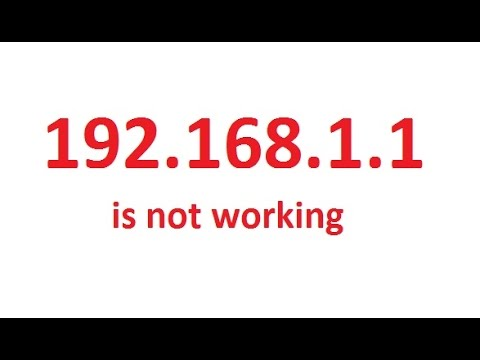 192.168.1.1 is not working or Can not access Gateway Address