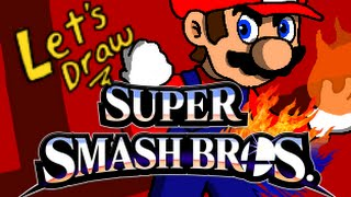 Drawing Every Smash Fighter – Mario