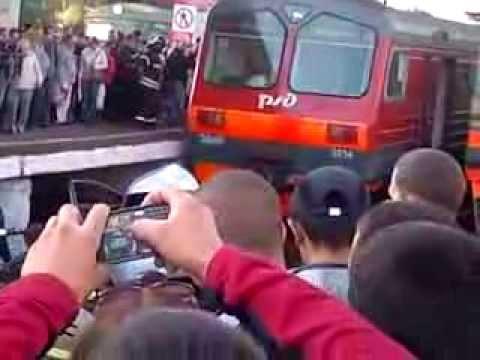 Авария на переезде в Щербинке