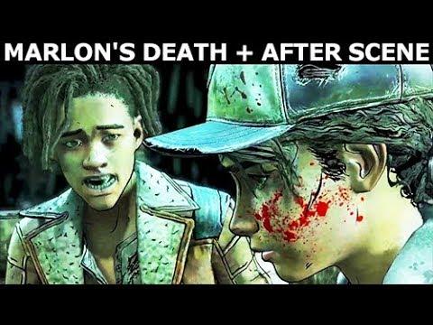 Marlon's Death + After Scene - The Walking Dead Final Season 4 Episode 2 (Telltale Series)