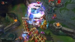 Khi 5 Azir cùng Ulti, cả team chết mà không được chạm đất!