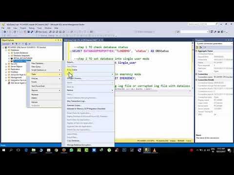 SQL Server Database Status Online, offline, Suspect, standby, Emergency