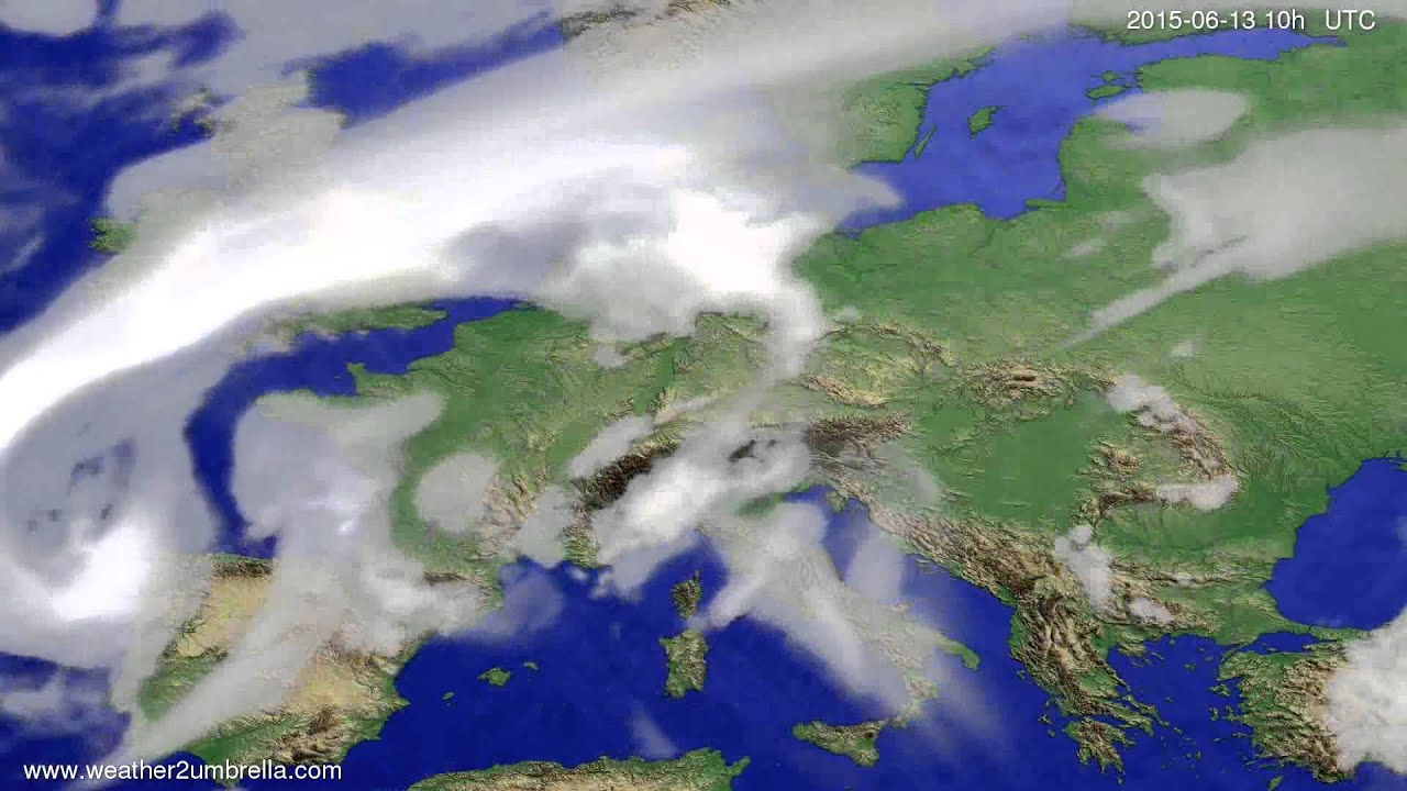 Cloud forecast Europe 2015-06-10