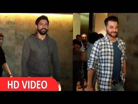 Farhan Akhtar & Others Spotted At Light Box