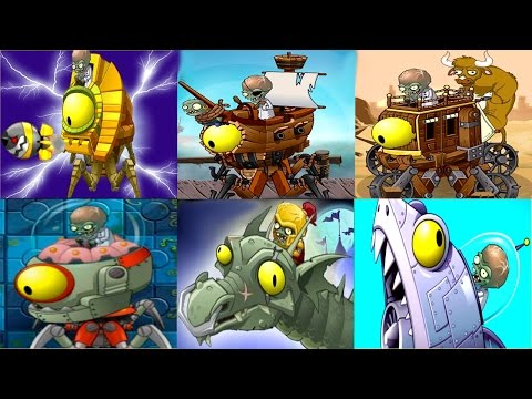 bosses - Plants vs. Zombies 2 - All 6 Worlds Zomboss Battles / All Zombot Bosses Gameplay (HD) ❤ Become a Zombie! ➥ http://bit.ly/IULITM ❤❤ PvZ Full Playlist ➥ http:/...