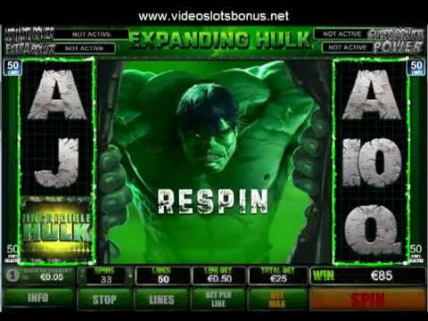 The Incredible Hulk video slot - Video Slot Bonus