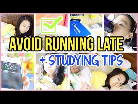 ♡ How to Avoid Running Late + Study Tips | AlohaKatieX ♡
