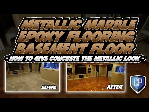 Metallic Epoxy Flooring Basement Floor - Fort Wayne Indiana