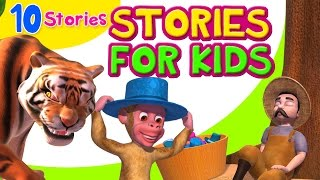 This stories for Kids video collection, comes with value building themes that children can enjoy. These short moral stories will help children learn important lessons of life.Stories includes:-1) The Cap Seller and the Monkeys2) The Foolish Wolf3) The Cow and the Tiger4) Belling the Cat5) The Mouse and the Bull6) The Clever Crow7) The Fox and the Cock8) The Sour Grapes9) The Blue Fox10) Jungles without Animalsfor more information, visit www.infobells.com