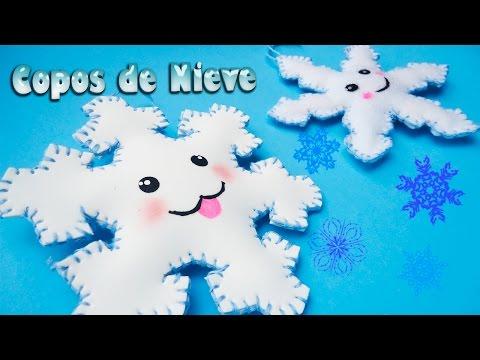 come creare un fiocco di neve in foamy e feltro