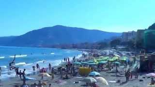 Alassio Italy  city images : Bella spiaggia in Alassio (Riviera dei fiori) - Beautiful Beach in Alassio Italy