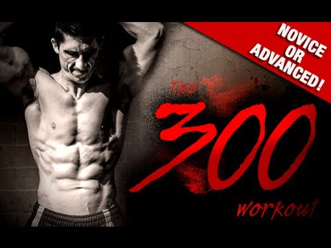 "HOME ""300"" WORKOUT (Bodyweight Only!!)"