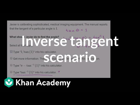Using inverse trig functions with a calculator (video) | Khan Academy