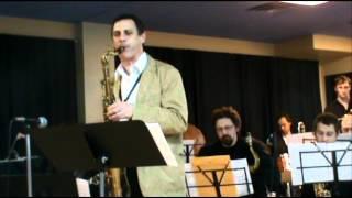 "The Joe Elefante Big Band performs Joe's arrangement of Wayne Shorter's ""Fee-Fi-Fo-Fum"" with guest tenor sax soloist Ralph..."