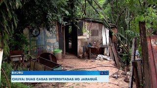 Defesa Civil de Bauru interdita duas casas no Parque Jaraguá que podem desabar