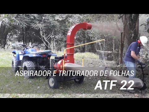 Aspirador e triturador de folhas para limpeza urbana ATF 22