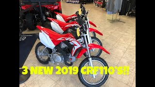 3. PICKING UP 3 NEW 2019 CRF110s!! FIRST TEST RIDE NICK GENNUSA