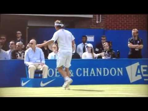 david nalbandian disqualified - David Nalbandian is disqualified from the final of the AEGON Championships at Queen's Club against Marin Cilic for kicking an advertising board into a line j...