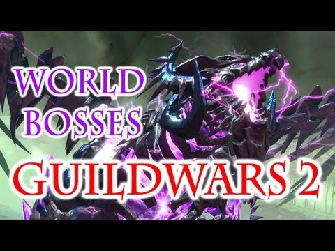 Guild Wars 2 Gameplay – World Bosses: The Shatterer and Shadow Behemoth