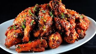 Sweet Spicy Garlic & Ginger Chicken Wings | CarnalDish