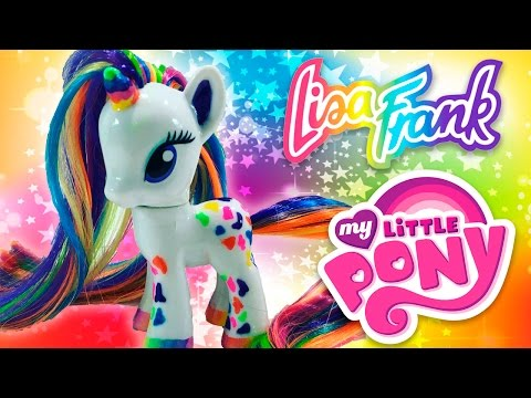 Custom LISA FRANK UNICORN MLP | My Little Pony Tutorial