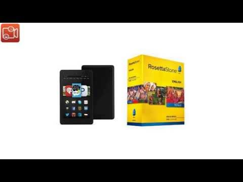 Learn English: Rosetta Stone English (British) - Level 1-5 Set with Fire HD B018S6VXTE video reviews