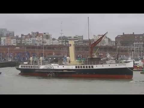 Medway Queen arriving at Ramsgate to commemorate Operation Dynamo