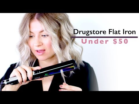 Hairstyles for short hair - THE BEST DRUG STORE FLAT IRON?!  Milabu