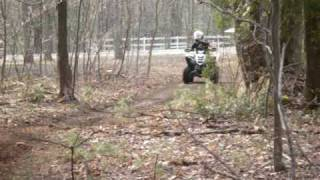 5. Yamaha Raptor 90 riding