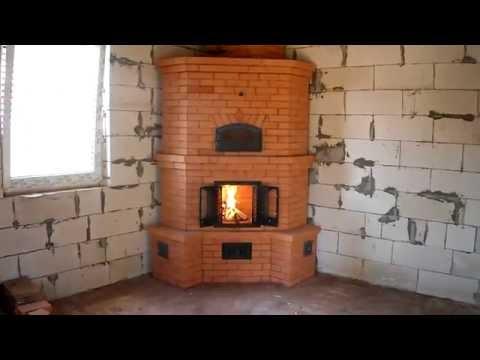 Угловая печь+камин