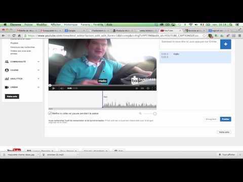 comment modifier les sous titres d'une video