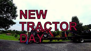 4. NEW TRACTOR DAY FOR THE SAWMILL! MAHINDRA 4550