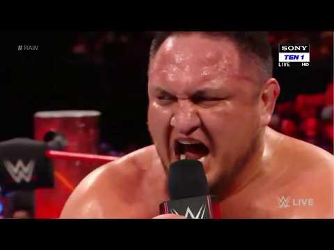 Samoa Joe VS Rhyno WWE Raw live January 2018