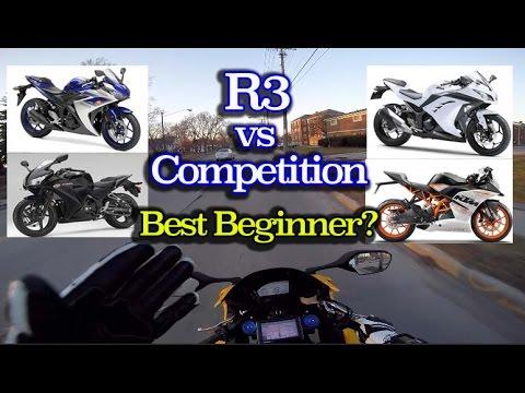 Download Video Best Starter Motorcycle - Yamaha R3 Vs KTM RC390 Vs Ninja 300 Vs CBR300r