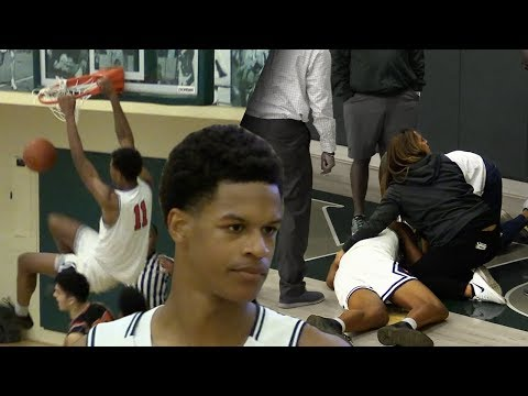 Shareef O'Neal Goes DOWN TRYING to GET THE WIN! Shareef GOES OFF in Senior DEBUT!
