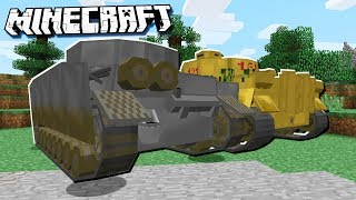 New DANGEROUS WEAPONS Added to Minecraft! (Tanks, Planes)