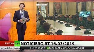 NOTICIERO RT 16/03/2019 🔴 La Fuerza Armada de Venezuela inicia ejercicios a gran escala