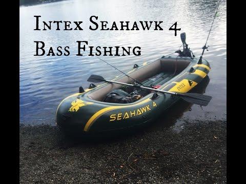 Intex Seahawk 4 | Inflatable Boat Bass Fishing