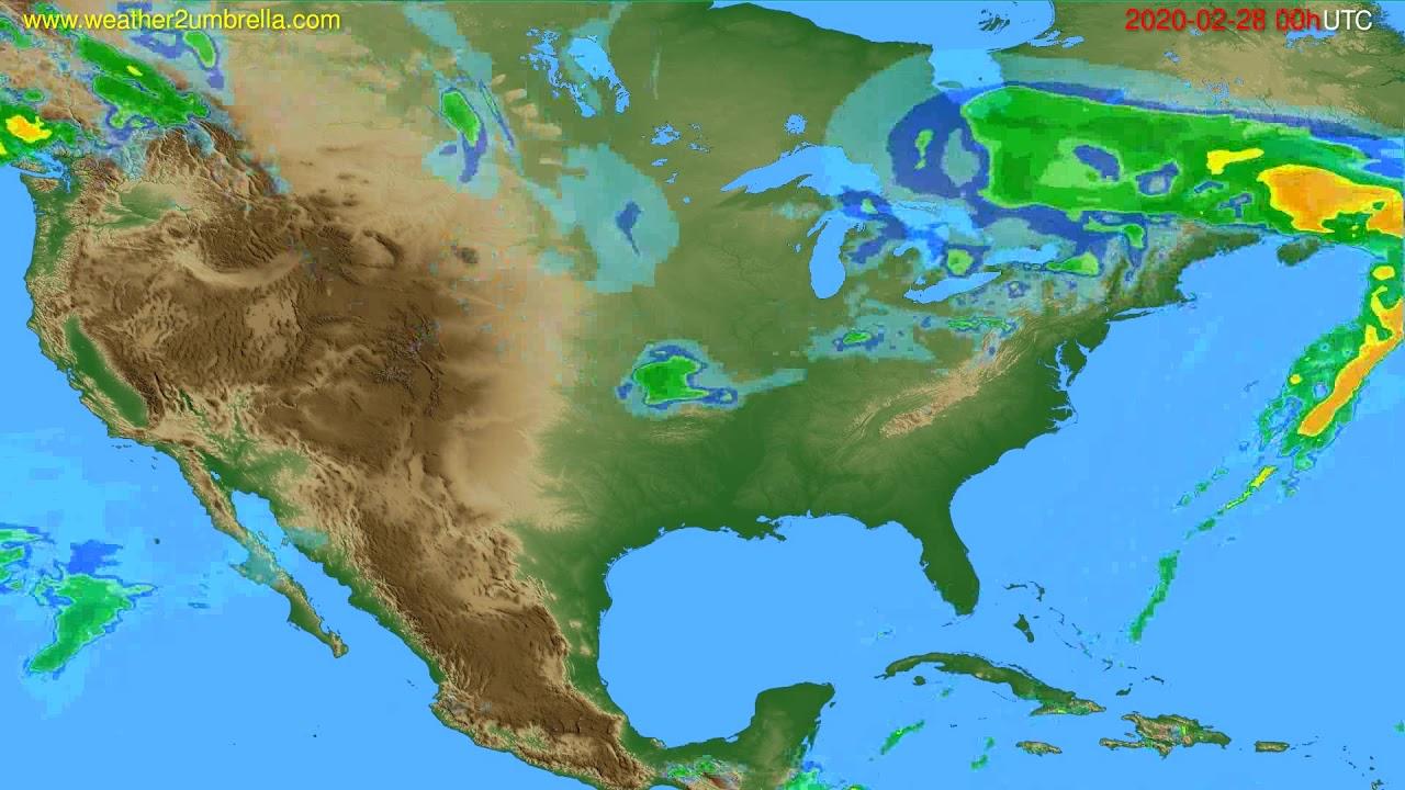 Radar forecast USA & Canada // modelrun: 12h UTC 2020-02-27