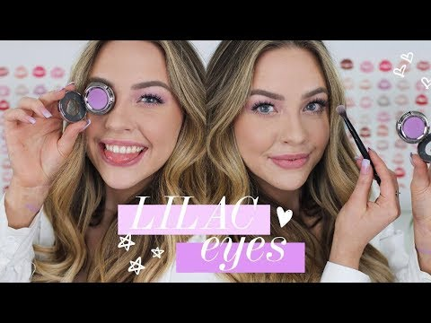 Easy Lilac Purple Shadow + Full Face Makeup Tutorial   Kailin Chase