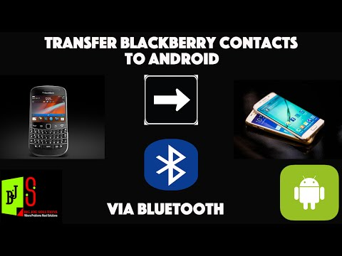 How to copy blackberry contacts to android