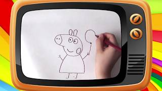 Как нарисовать свинку Пеппу. Оживающие рисунки