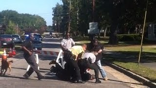VIDEO: Soldier Attacking Protester at Funeral