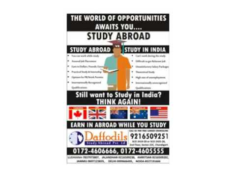 Study Abroad – Daffodils Chandigarh